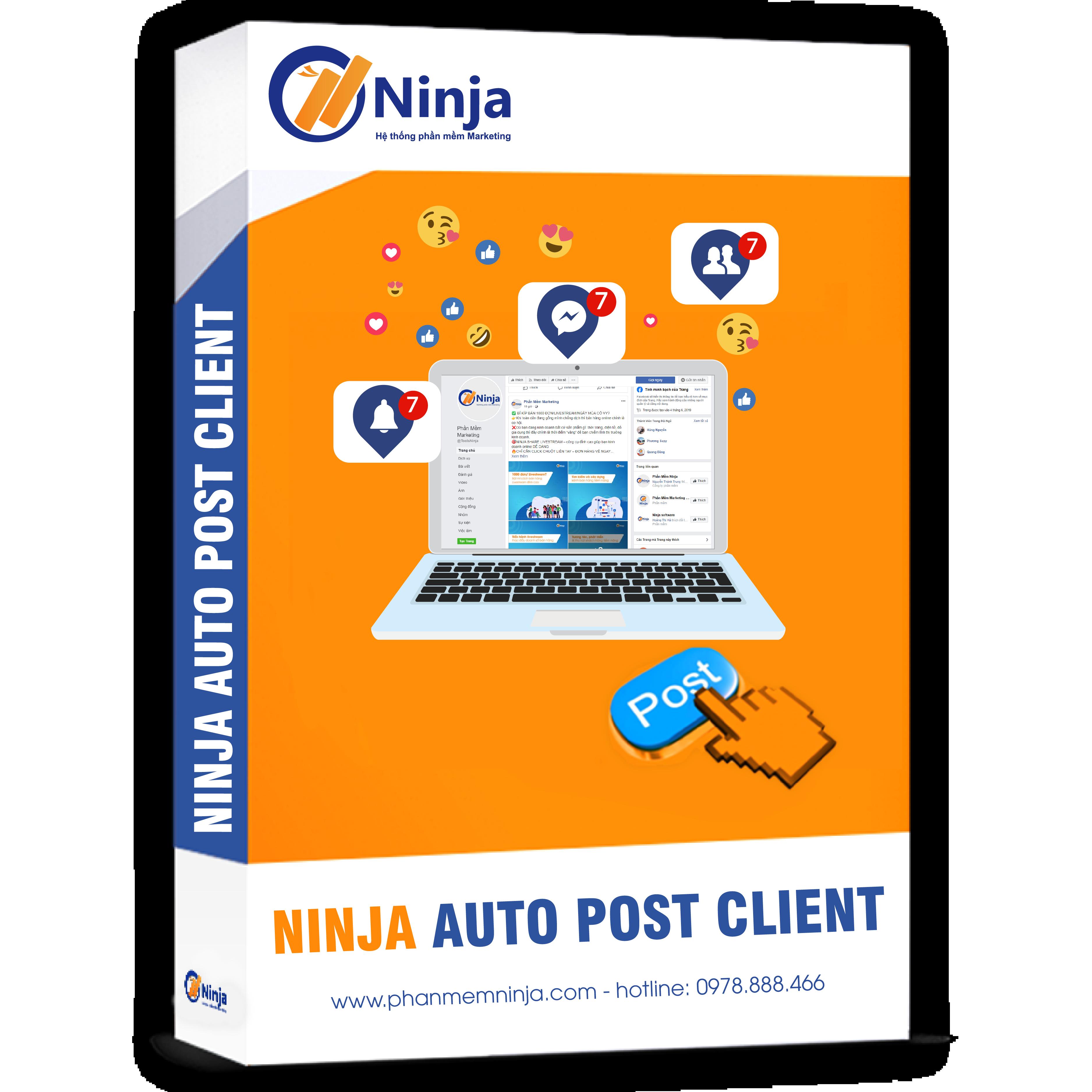 phan mem ninja auto post client