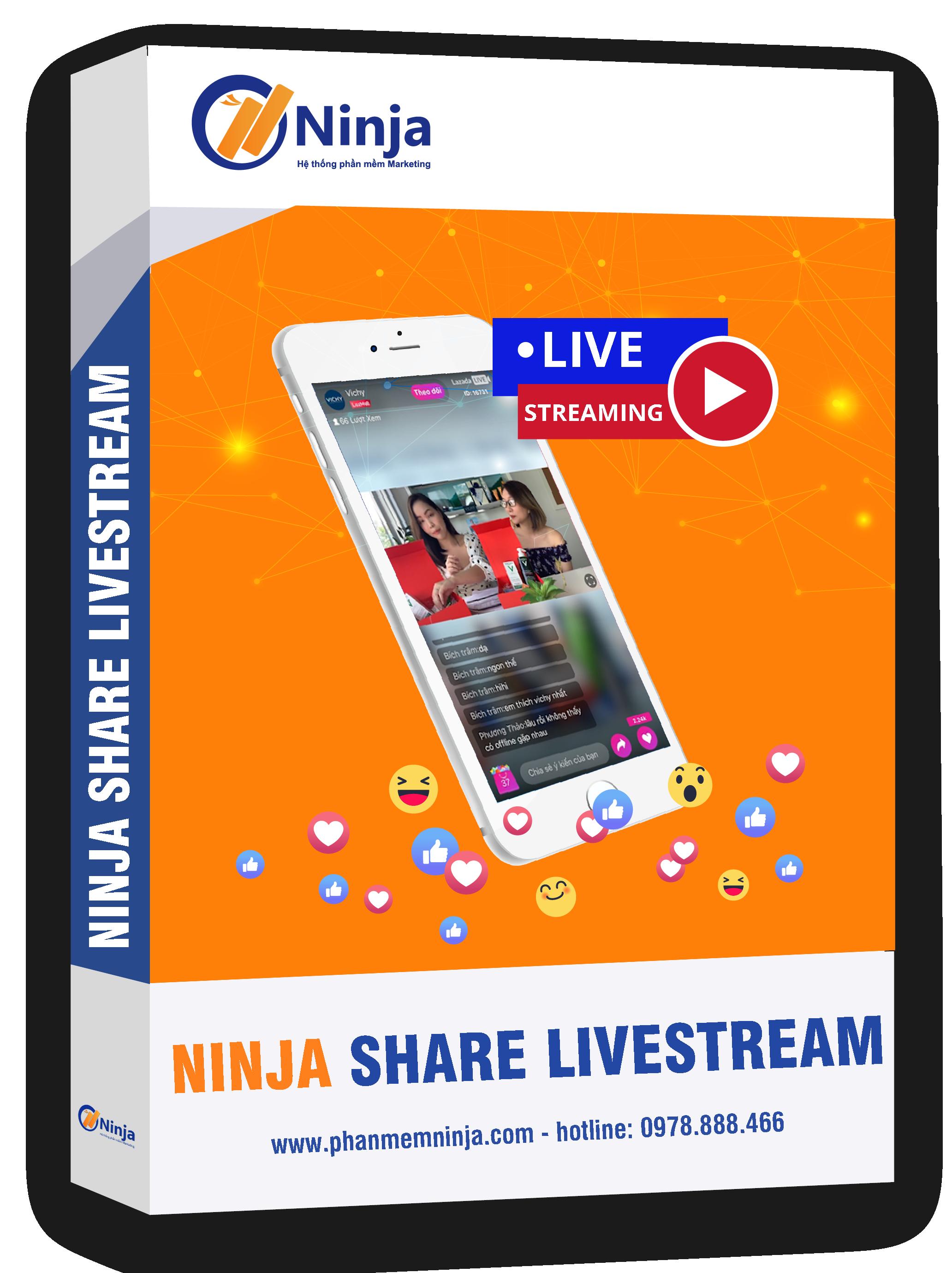 phan mem ninja share-livestream