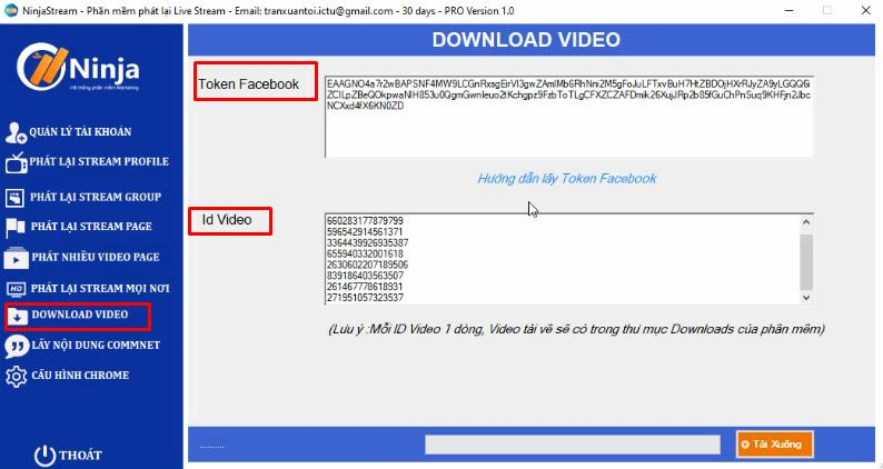 download nhieu video cung luc ninja stream 1 Hướng dẫn tải nhiều video cùng lúc với phần mềm Ninja Stream