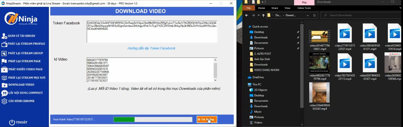 download nhieu video cung luc ninja stream2 1 Update version 1.6 của phần mềm phát lại Livestream tự động