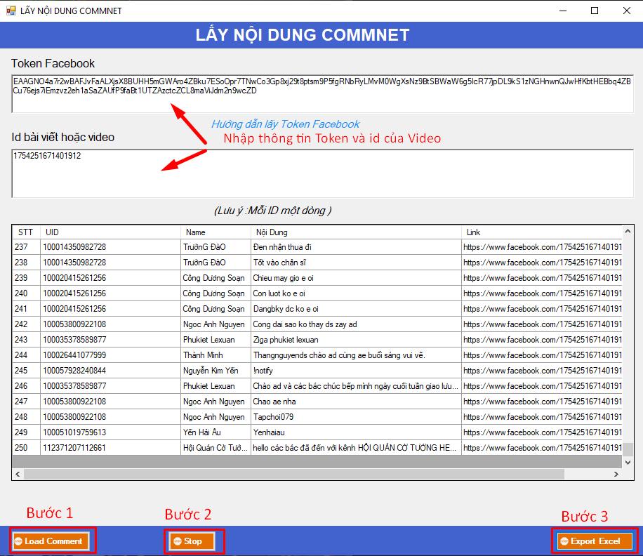 ninja stream lay noi dung comment4.jpg Ninja Stream hướng dẫn lấy nội dung comment của video Livestrem