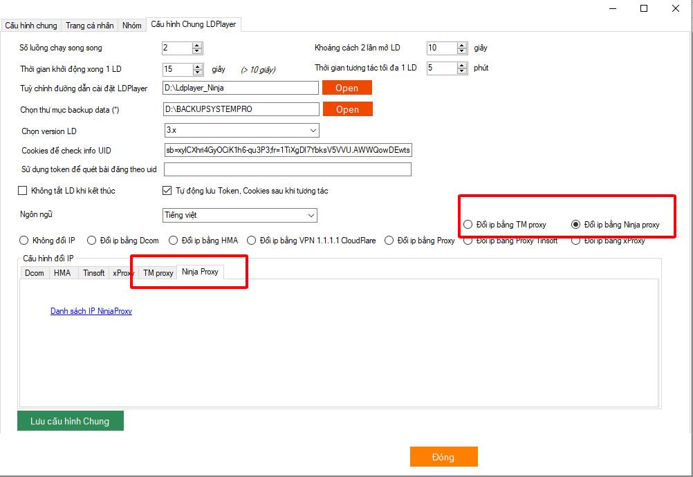 phan mem nuoi nick facebook Phần mềm Ninja System Pro cập nhật version 6.9 với nhiều tiện ích