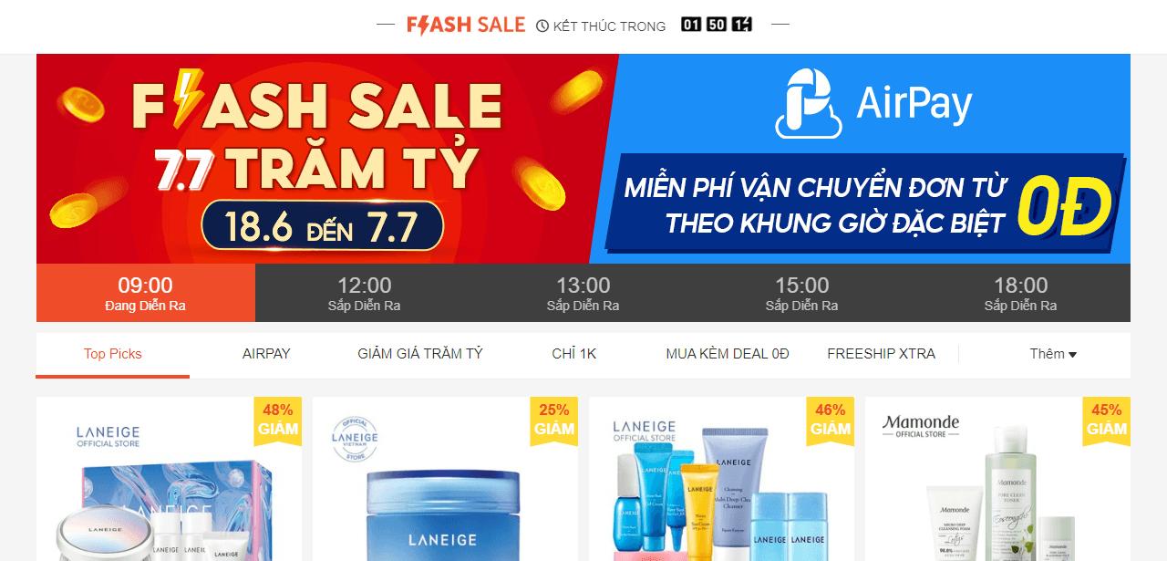 flase sale shopee 1593659411831 Bùng nổ doanh số cuối năm với 3 chiến lược khuyến mãi hiệu quả