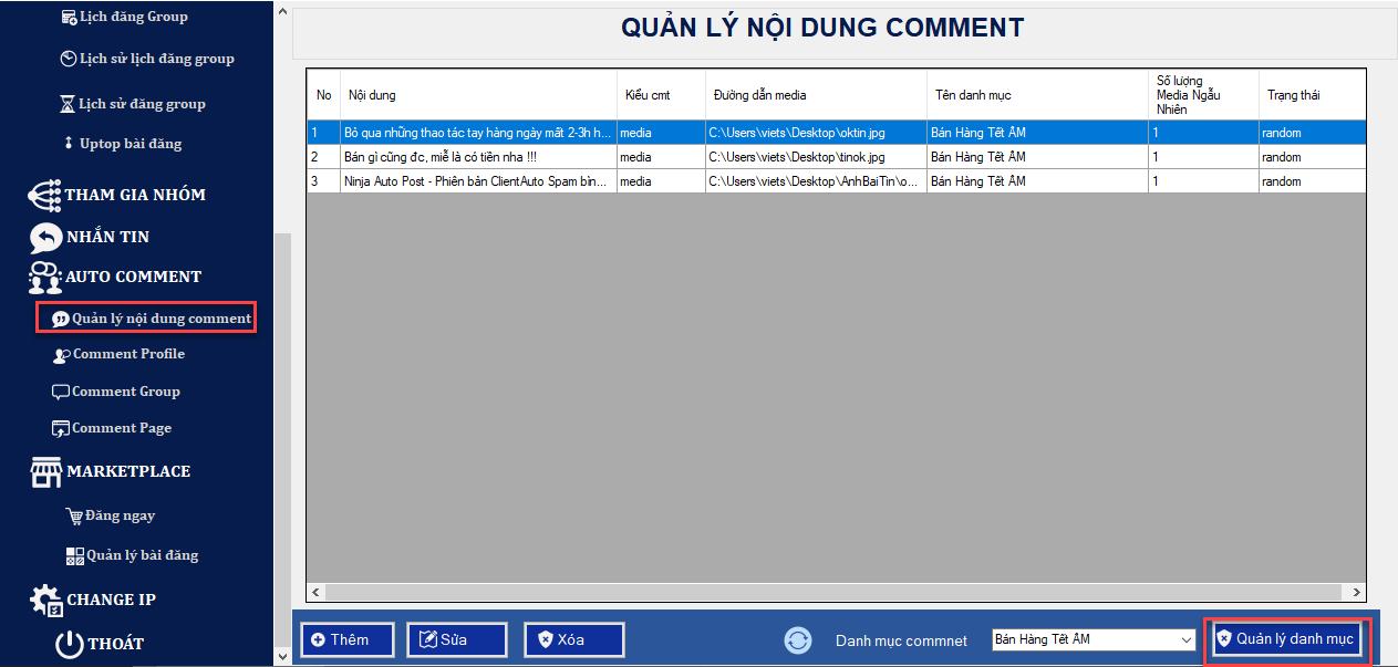 comment ngau nhien len nhom2 Phần mềm đăng tin Ninja Auto Post thêm nhiều tính năng mới