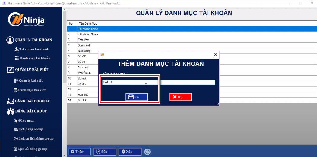 tool dang bai facebook 3 Hướng dẫn nhập tài khoản vào tool đăng bài facebook   Auto Post(Client)