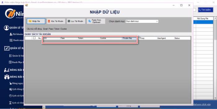 tool dang bai facebook 5 e1614068002852 Hướng dẫn nhập tài khoản vào tool đăng bài facebook   Auto Post(Client)