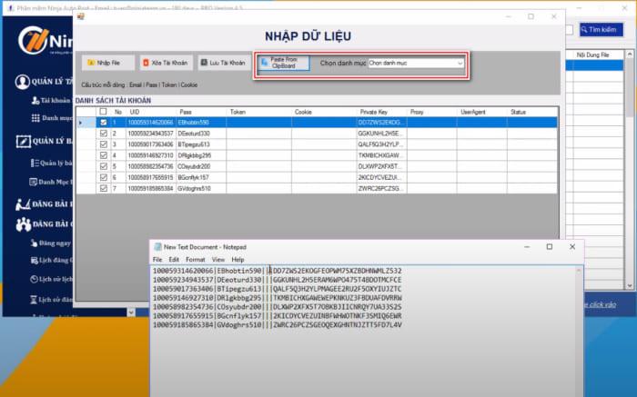 tool dang bai facebook 6 e1614068033113 Hướng dẫn nhập tài khoản vào tool đăng bài facebook   Auto Post(Client)