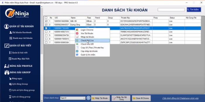 tool dang bai facebook 7 e1614068156191 Hướng dẫn nhập tài khoản vào tool đăng bài facebook   Auto Post(Client)