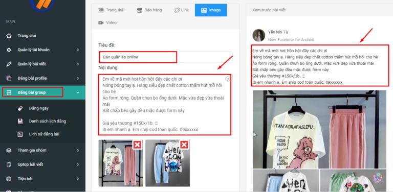 dang bai group ninja auto post2 768x376 1 Phần mềm đăng tin rao vặt hàng loạt tiện lợi bạn cần biết