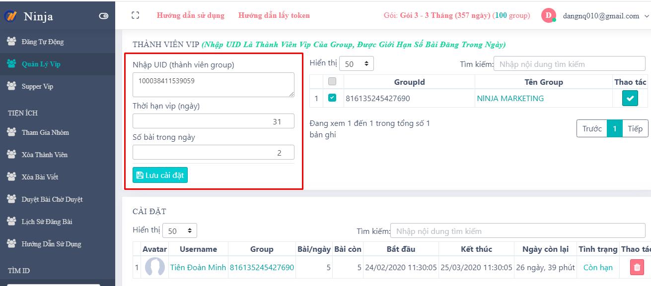 huong dan thanh vien vip Tool bán hàng trên Group Facebook hiệu quả nhất 2021