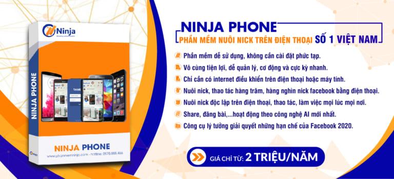 banner ninja phone 1 Phần mềm nuôi nick mobile Ninja Phone số lượng lớn chuyên nghiệp