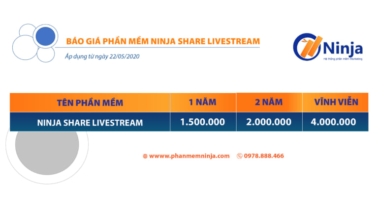 ninja share livestream 768x432 1 Phần mềm Live Stream bán hàng giúp tăng nghìn đơn mỗi ngày