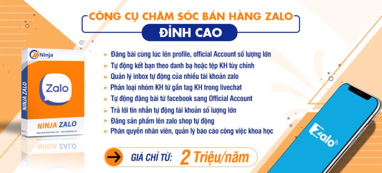 ninja zalo Phần mềm quảng cáo Zalo, Zalo Marketing, Auto zalo số 1 Việt Nam