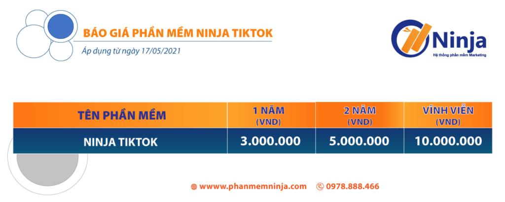 báo giá tik tok 1024x410 Phần mềm tương tác tiktok hướng dẫn nhập tài khoản, tạo nhóm, nhân bản LDplayer