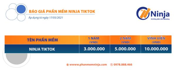 báo giá tik tok e1628222495954 Phần mềm nuôi nick tiktok, tăng follow tiktok 2021