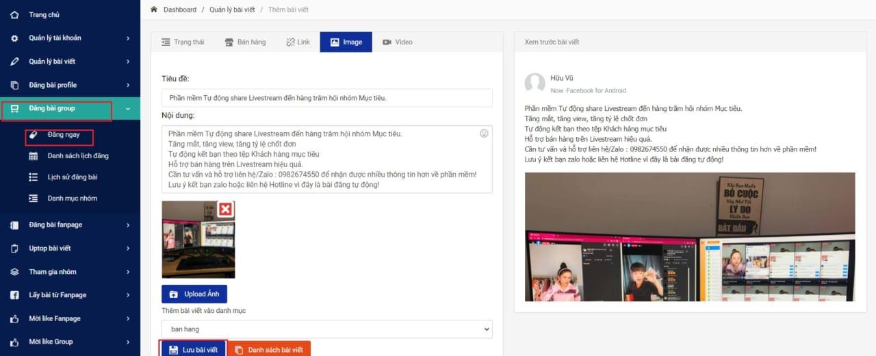 phần mềm hẹn giờ đăng bài group.2.1jpg 1 Phần mềm hẹn giờ đăng bài facebook tự động, hiệu quả 100%