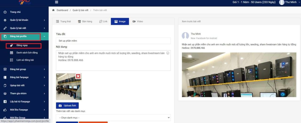 phần mềm hẹn giờ đăng bài profile 1 Phần mềm hẹn giờ đăng bài facebook tự động, hiệu quả 100%