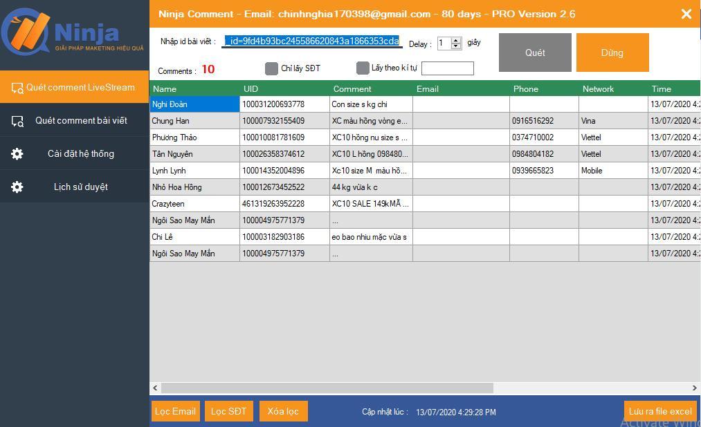 phần mềm lọc đơn livestream Phần mềm livestream bán hàng tăng view, chốt đơn hiệu quả