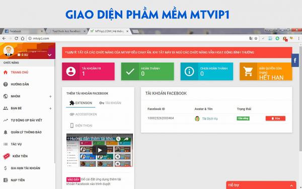 phan mem nuoi nick mtvip1 Phần mềm nuôi nick facebook miễn phí tự động, chuyên nghiệp