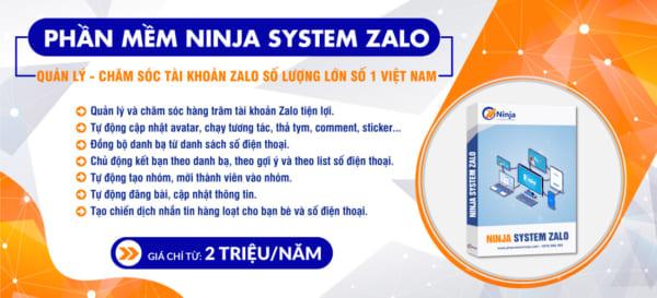 slider ninja system zalo e1623122098751 3 lý do khiến quảng cáo zalo không cắn tiền và cách khắc phục