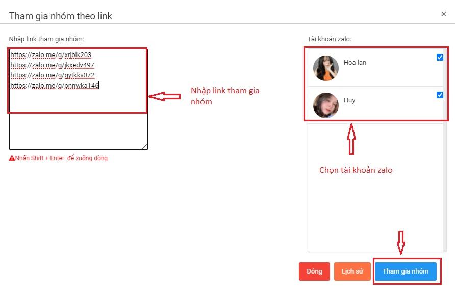 tham gia nhóm theo link zalo Cách tham gia nhóm theo link chia sẻ với phần mềm Ninja Zalo