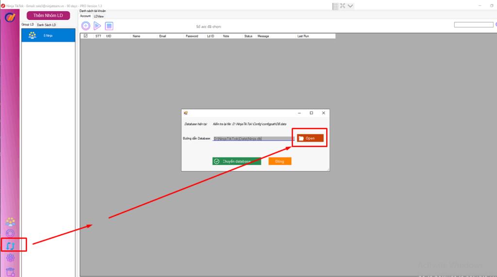 cài đặt cấu hình phần mềm ninja tiktok 1024x571 Hướng dẫn cài đặt phần mềm tăng follow tiktok   Ninja tiktok