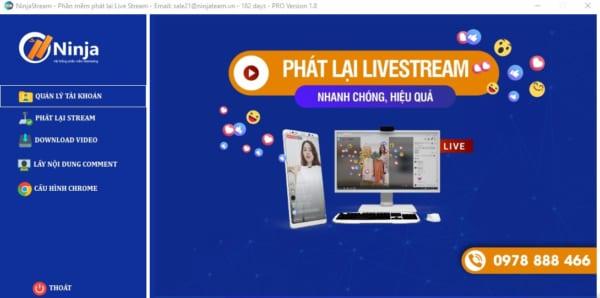 giao dien phan mem phat lai livestream e1625026455905 Tăng follow nhanh chóng với cách phát lại livestream của người khác