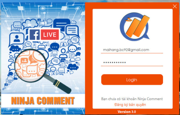ninja comment 3.0 e1622709070789 Hướng dẫn quét comment facebook, lọc comment livestream nhanh chóng 2021