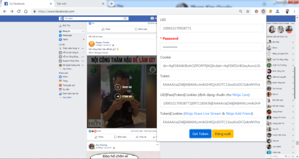 ninja token e1622709042206 Hướng dẫn check comment facebook 2021 dễ dàng