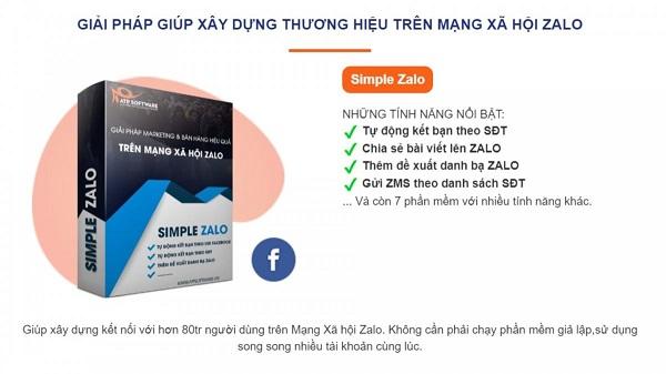 simple zalo Top 5 phần mềm zalo marketing giúp tăng hiệu suất bán hàng 200%