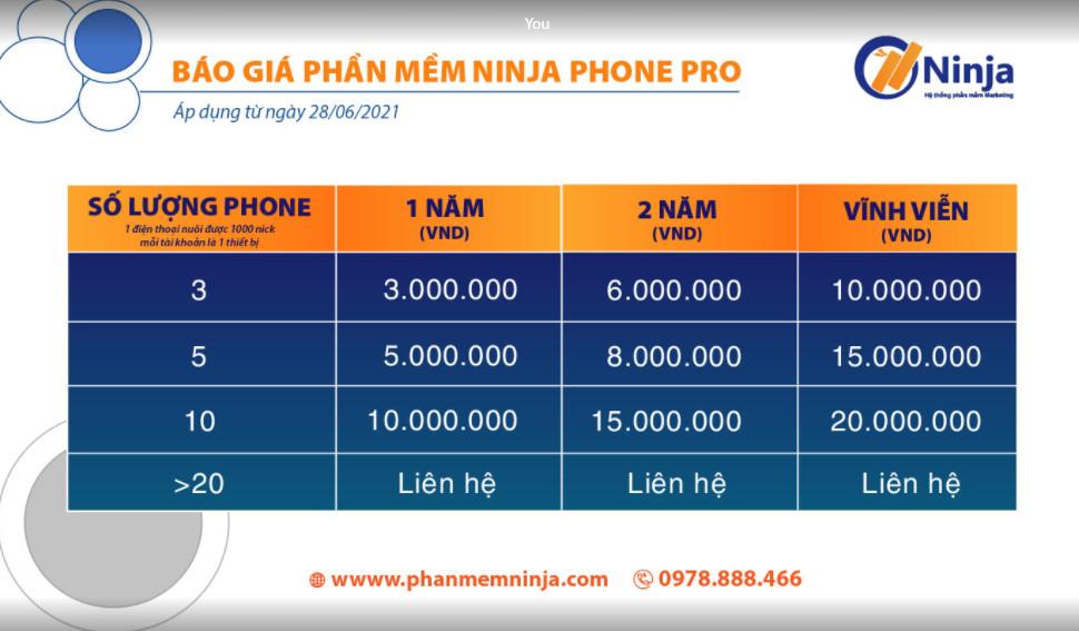 58dd1d3374598307da48 Công cụ nuôi nick điện thoại tối ưu chi phí Ninja phone Pro