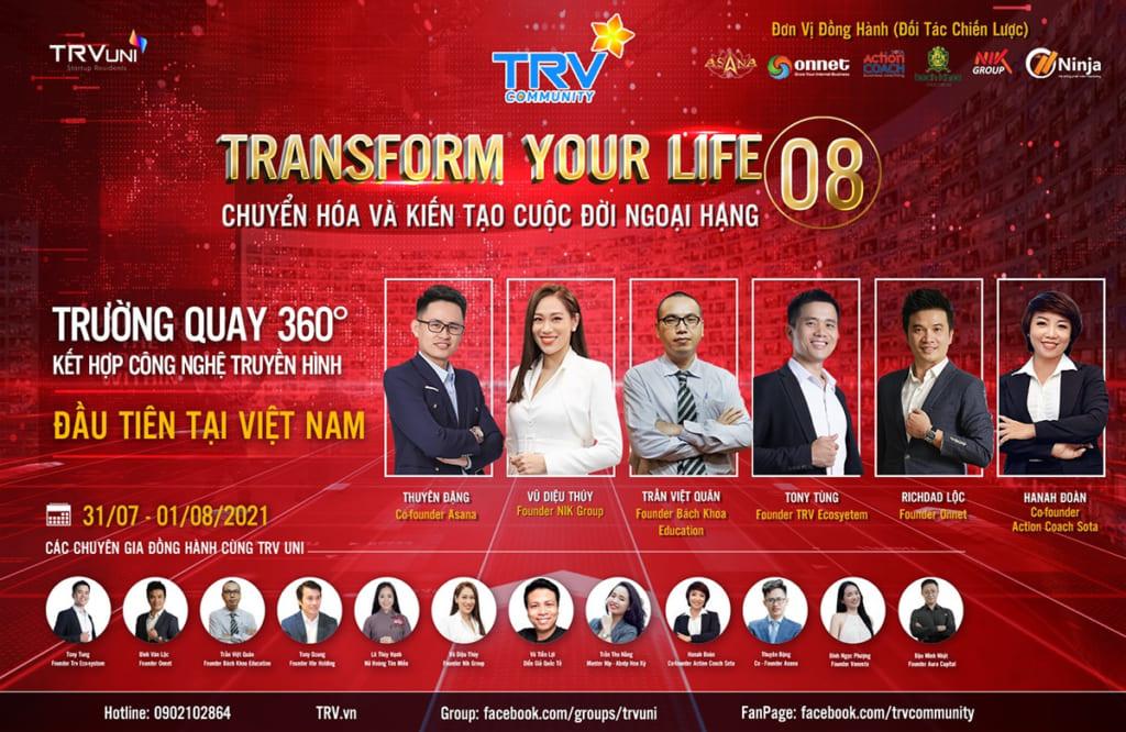 5adbbb2cb474432a1a65 1024x666 Phần mềm Ninja tặng vé sự kiện Transform your life 08 quy mô 10.000 người