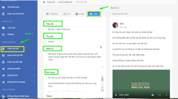 Cach dang bai trên zalo official account.11 e1626075111784 Cách đăng bài trên Zalo Official Account nhanh chóng, tự động