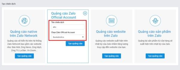 zalo official account2 e1627014272600 Hướng dẫn cách chạy quảng cáo Zalo Official Account hiệu quả