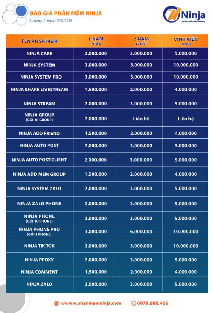 20210729 báo giá phần mềm 20211 695x1024 BẢNG TỔNG HỢP BÁO GIÁ PHẦN MỀM NINJA