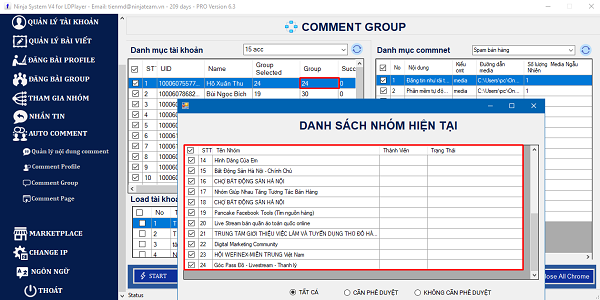 danh sach nhom auto comment group facebook 1 Tool auto comment group facebook 2021 tự động, chuyên nghiệp