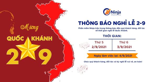 nghi le quoc khanh Phần mềm Ninja: Thông báo nghỉ lễ Quốc khánh 2/9