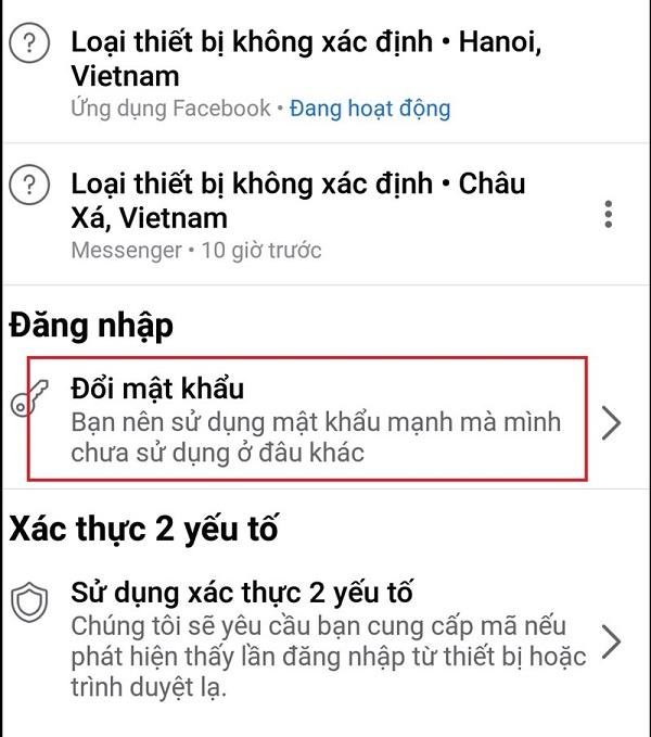 cach doi mat khau facebook4 Cách đổi mật khẩu facebook trên điện thoại và máy tính nhanh chóng