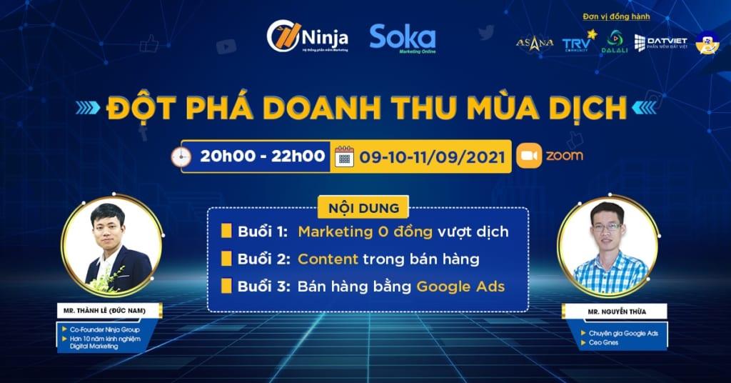 marketing 0 đồng 1024x536 Đào tạo Phần mềm Ninja: Đột phá Doanh thu mùa dịch