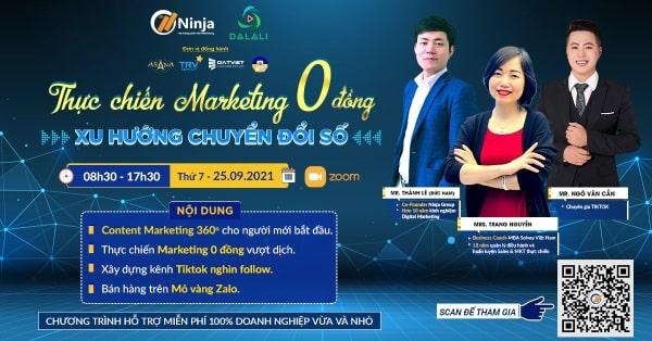 marketing 0 dong chuyen doi so Ninja tổ chức chương trình đào tạo quy mô lớn Marketing 0 đồng chuyển đổi số