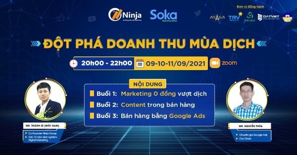 marketing 0 dong vuot dich Ninja đào tạo thành công Marketing 0 đồng vượt dịch trong chuỗi sự kiện đột phá doanh thu mùa dịch