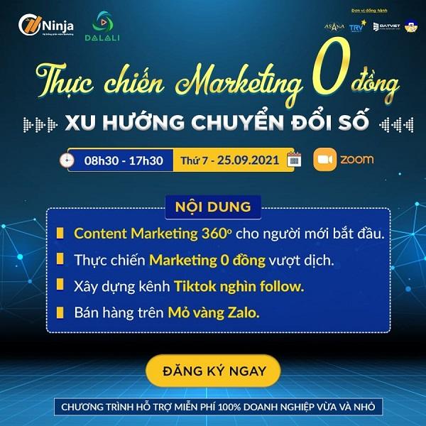 marketing 0 dong xu huong chuyen doi so Hội thảo Thực chiến Marketing 0 đồng   Xu hướng chuyển đổi số: Biến giấc mơ Marketing 0 đồng thành hiện thực