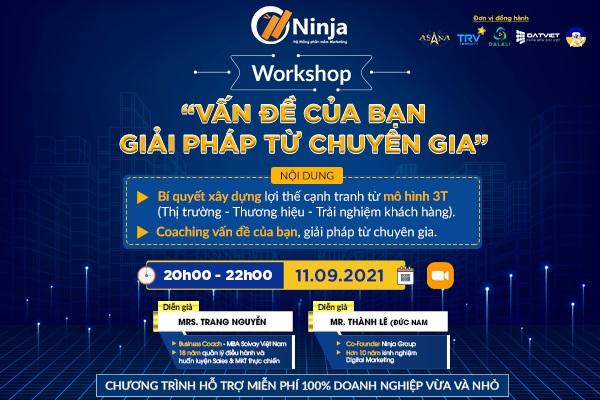 """workshop chia se Workshop """"Vấn đề của bạn   Giải pháp từ chuyên gia"""": Chia sẻ kinh nghiệm xây dựng thương hiệu, thị trường"""