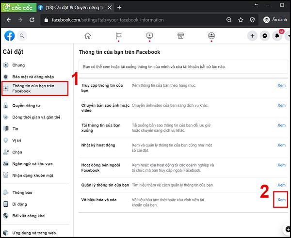 xoa tai khoan facebook vinh vien 2 Cách xóa tài khoản facebook vĩnh viễn trên điện thoại và máy tính